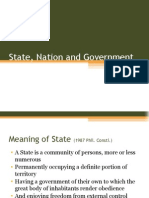State, Nation and Government