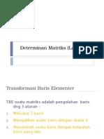 Determinan Matriks Lanjutan