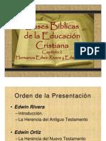 Bases Bíblicas de la Educación Cristiana