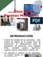 Análisis Físico Pruebas Mecánicas