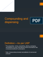 Compounding and Dispensing - General Requirements