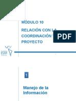 Módulo 10--Relación Con La Coordinación y El Proyecto - V 1 0-3 05 12