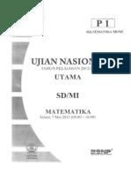 Soal Matematika UN SD 2013