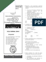 Ciclo Normal 2006-II - Práctica Nº 09 - Química - Reacciones Química I