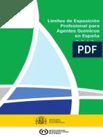 Límites de Exposición Profesional Para Agentes Químicos en España 2012