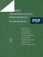 Aussenhandelswörterbuch in 8 Sprachen