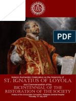 Liturgy for the Feast of Saint Ignatius of Loyola