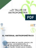 TALLER DE ANTROPOMETRIA