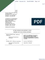 SCO Grp v. Novell Inc - Document No. 133