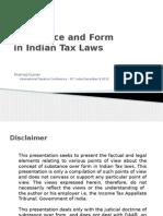 Pramod Kumar Form vs Substance FIT 06 December 2012