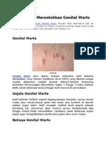 Cara Herbal Merontokkan Genital Warts