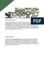 Industrial Fastener Supplier in USA