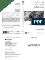 Philosophies Hellenistiques, Les - LEVY Carlos