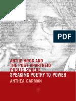 Excerpt from Antjie Krog and the Post-Apartheid Public Sphere