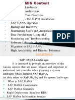 Sap Hana Admin Trainiing in Hyderabad