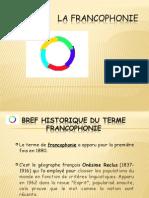 LA FRANCOPHONIE Questionnaire Bun Mod