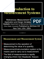 Introduction to Measurement Systems