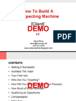 Outbound Process Demo Aaron Ross Build A Prospecting Machine 03 02 07
