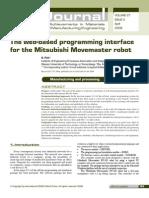 Robo Mitsubishi Rv m1 Journal
