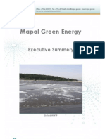 Mapal Excutive Summery - Mapal Green Energy