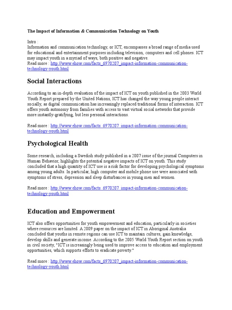 negative impact of ict on education