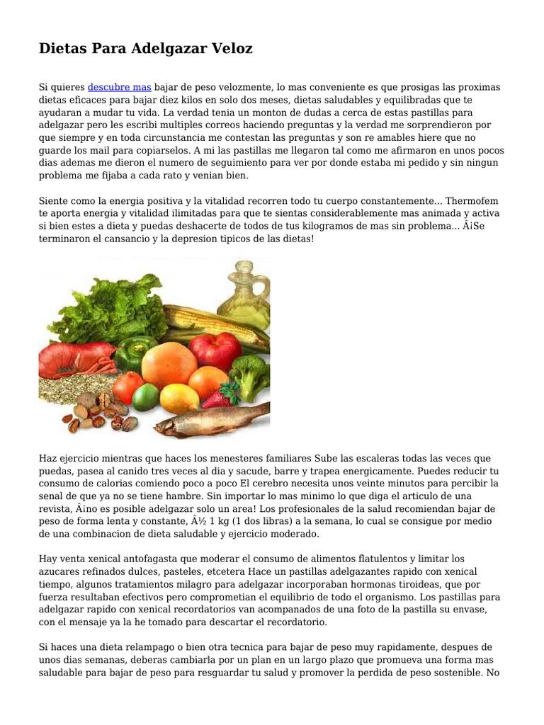 imagenes de dietas para adelgazar