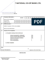 App Atmcard Complaint Form
