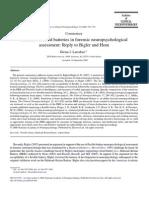 Flexible vs. Fixed Batteries in Forensic Neuropsychological