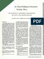 Nickel Palladium Braze AWS