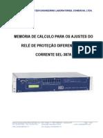 Memória de Cálculo para o Roteiro de Ajustes do Relé Diferencial SEL-387A.pdf