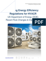 Evolving Energy Efficiency Regulations for HVACR 10 New US DOERuleChanges