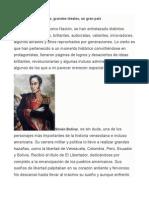 Personajes Historicos de Venezuela