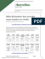 Mini Dicionário Dos Acordes Mais Usados No Violão _ Juarez Barcellos