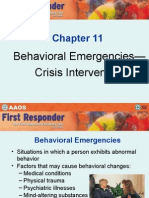 Behavioral Emergencies-Crisis Intervention