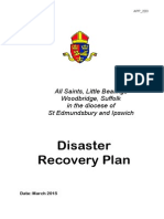 All Saints Church - Disaster Recovery Plan