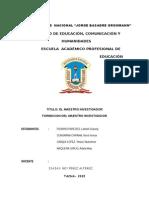 Formacion Del Docente Investigador