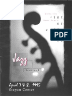 1995 Notre Dame Inter-collegiate Jazz Fest program