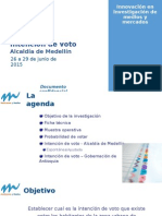 Aumentó la intención de voto en Medellín