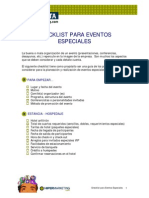 Checklist Para Eventos Especiales