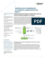 Datasheet VSpace Desktop and Application Virtualization Platform (ES) 280995
