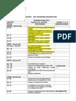 Calendarizacion Historia 2ºmedio 2009