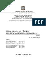 SPSS APLICADO A TÉCNICAS CUANTITATIVAS DE GESTIÓN