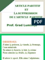 """L""""Article Partitif"""