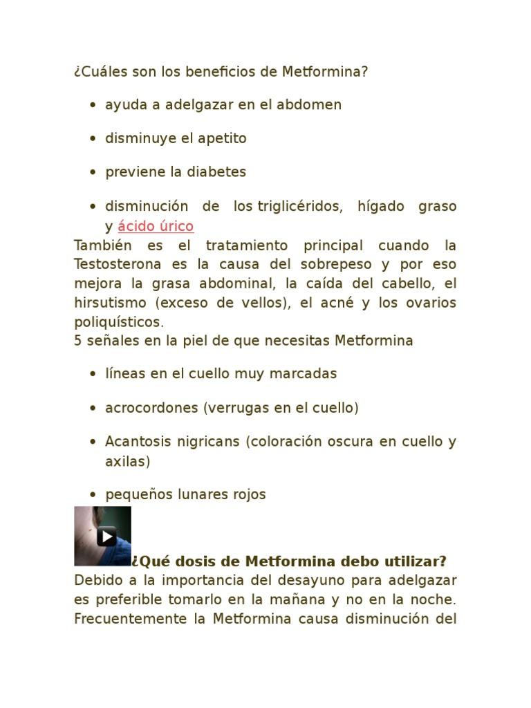 Cuáles Son Los Beneficios de Metformina