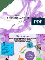 1.3 CUESTIONARIO DE BASES DE DISEÑO