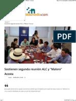 30-06-15 Sostienen segunda reunión ALC y Maloro Acosta