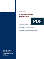 ACSI June 2015 Restaurant Report