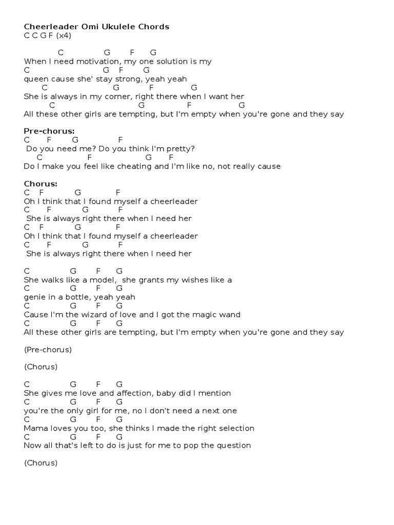 Cheerleader omi ukulele chords hexwebz Image collections