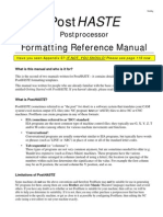 PostHASTE for GibbsCAM 2005 - Format Reference Manual