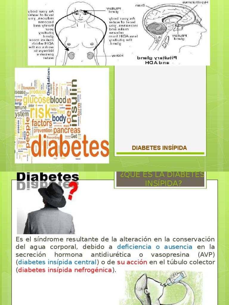 diabetes insípida diagnóstico osmolalidad de la sangre